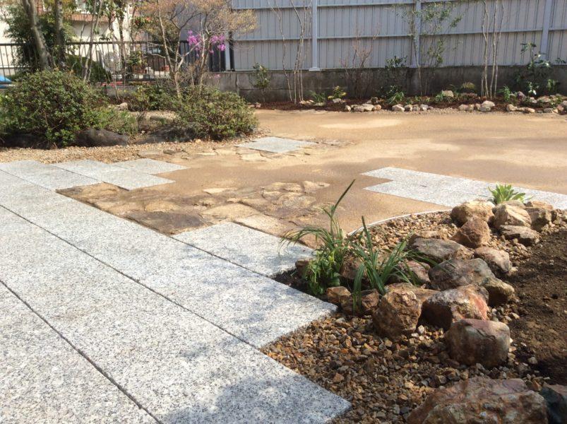 自然舗装が映える庭|外構造園工事|高崎市