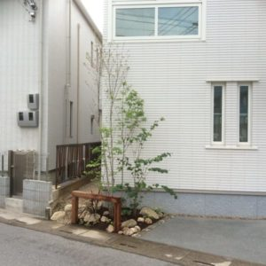 限られた住宅空間の外構工事
