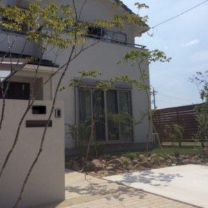 シンプルさが美しいオープン外構|造園外構工事|高崎市